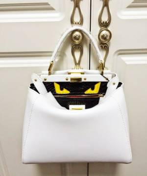Сумка Fendi Peekaboo Medium White