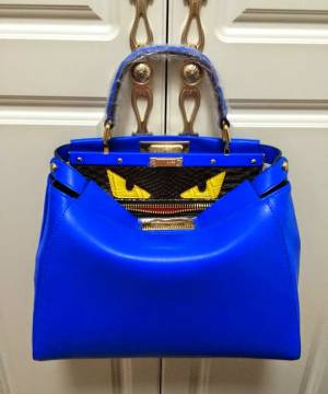 Сумка Fendi Peekaboo Medium Blue