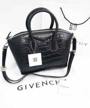 Сумка Givenchy Antigona Mini со вставками под крокодила