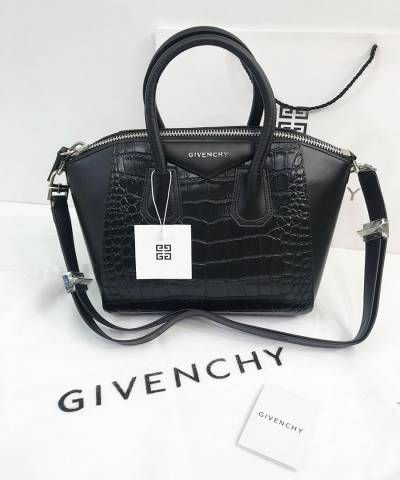 Сумка Givenchy Antigona Mini со вставками под крокодила
