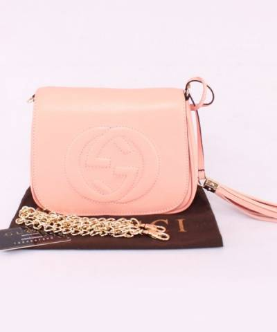 Сумка Gucci Soho Chain Shoulder Pink Bag
