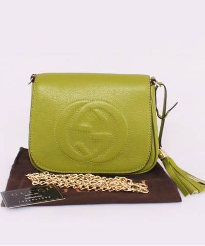 Сумка Gucci Soho Chain Shoulder Green Bag