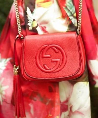 Сумка Gucci Soho Chain Shoulder Red Bag