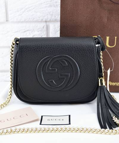 Сумка Gucci Soho Chain Shoulder Black Bag