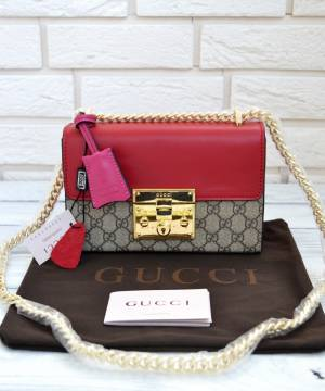 Сумка Gucci Padlock Shoulder Bag Red