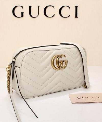 Сумка Gucci Marmont Matelasse Bag White