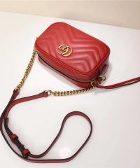Сумка Gucci Marmont Matelasse Mini Bag Red