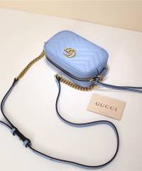 Сумка Gucci Marmont Matelasse Mini Bag Blue