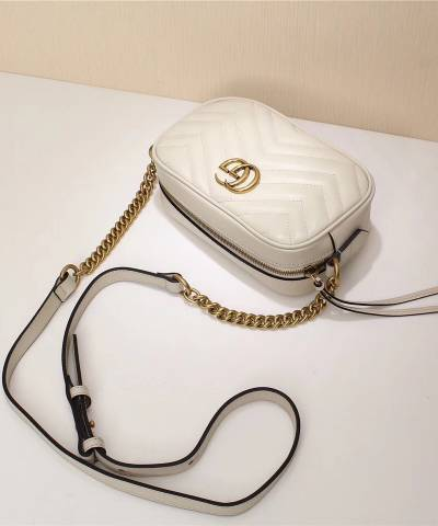 Сумка Gucci Marmont Matelasse Mini Bag White