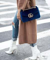 Сумка Гуччи GG Marmont Small Velvet Shoulder Bag