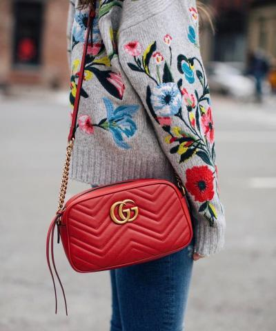 Сумка Gucci Marmont Matelasse Bag Red