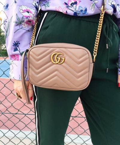 Сумка Gucci Marmont Matelasse Mini Bag Pink