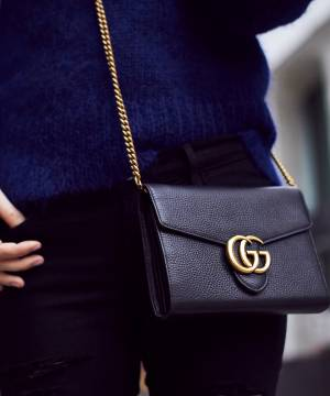 Клатч Gucci GG Marmont Chain Bag Black