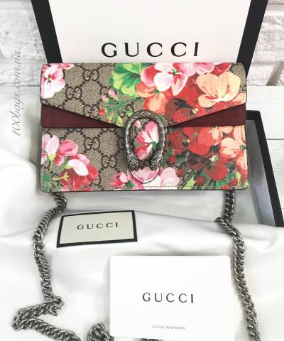 Клатч Gucci Dionysus GG Blooms Mini Chain Bag