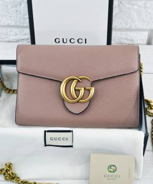 Клатч Gucci GG Marmont Chain Bag Pale Pink