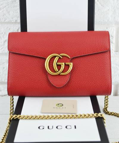 Клатч Gucci GG Marmont Chain Bag Red