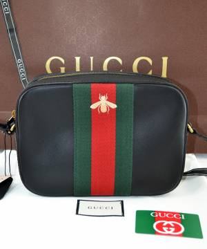 Сумка Gucci Bee-Embroidered Cross-Body Bag