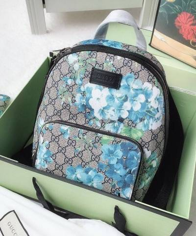 Рюкзак Gucci Blooms Blue Coated Canvas Backpack