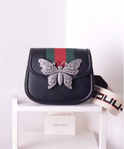 Сумка Gucci Totem Small Shoulder Bag Butterfly Nero