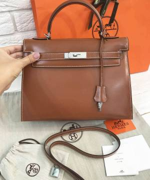 Сумка Hermes Kelly Brown 32 cm