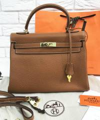 Сумка Hermes Kelly Togo Brown