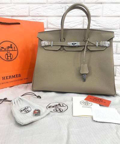Сумка Hermes Birkin Gris Tourterelle 35 cm
