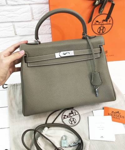 Сумка Hermes Kelly Grey Asphalt
