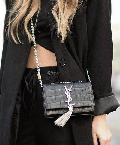 Клатч YSL Saint Laurent Tassel Small Crocodile