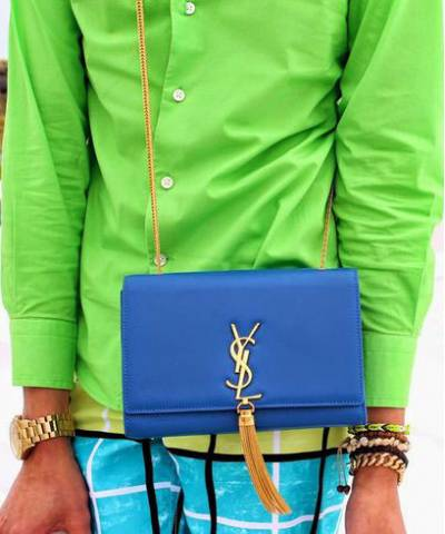 Клатч YSL Saint Laurent Tassel Medium Blue