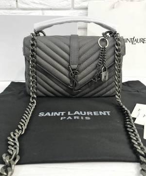 Сумка Saint Laurent Medium College Monogram Grey