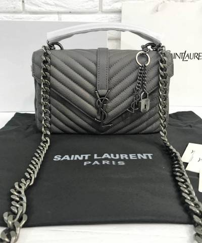 Сумка Saint Laurent Medium College Monogram Grey
