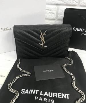 Клатч Saint Laurent Monogram Envelope Chain Wallet