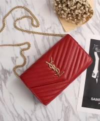 Клатч YSL Envelope Chain Wallet Red