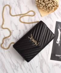 Клатч YSL Envelope Chain Wallet Black