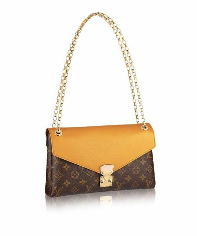 Клатч Louis Vuitton Monogram Canvas Pallas Chain Yellow