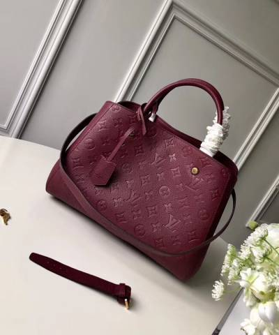 Сумка Louis Vuitton Montaigne Empreinte MM Bag Bordeaux