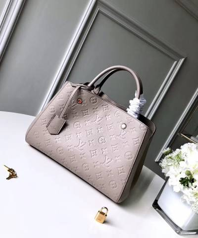 Сумка Louis Vuitton Montaigne Empreinte MM Bag Biege