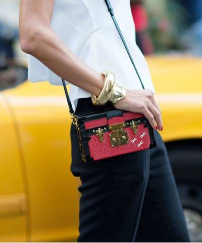 Сумка Louis Vuitton Petite Malle Red Epi