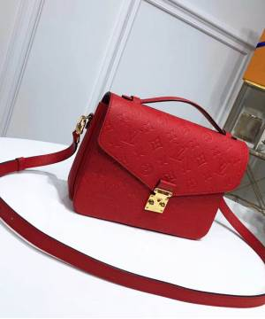 Сумка Louis Vuitton Pochette Metis Empreinte Red