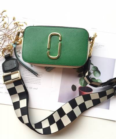 Сумка Marc Jacobs Snapshot Bag Green Quilted Strap