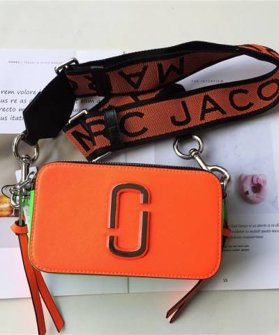 Сумка Marc Jacobs Snapshot Bag Fluorescent Orange Multi
