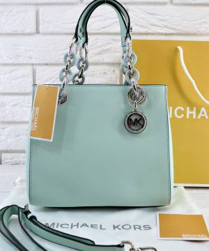 Сумка Michael Kors Cynthia Small Satchel Mint