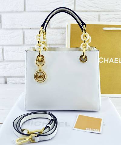 Сумка Michael Kors Cynthia Small White