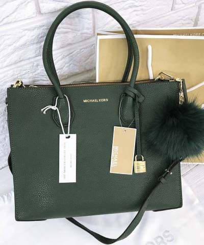 Сумка Michael Kors Mercer Large Dark Green