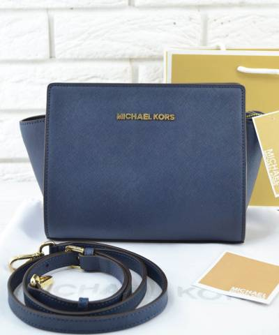 Сумка Michael Kors Selma Messenger Dark Blue
