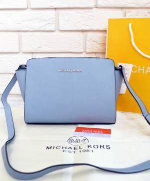 Сумка Michael Kors Medium Selma Messenger Pale Blue
