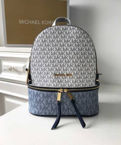 Рюкзак Michael Kors Rhea Logo Backpack Vanilla Navy