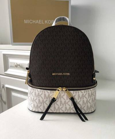 Рюкзак Michael Kors Rhea Logo Backpack Vanilla Brown