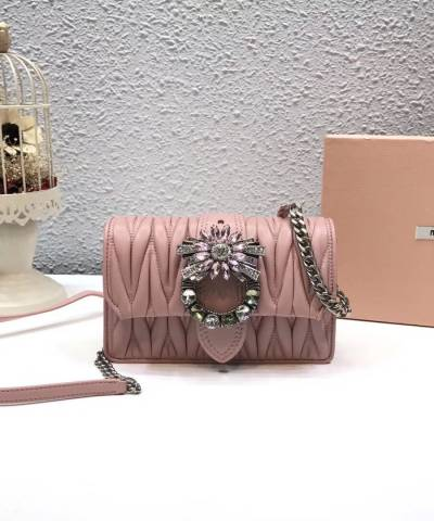 Сумка Miu Miu Lady Matelassé Shoulder Bag Pink