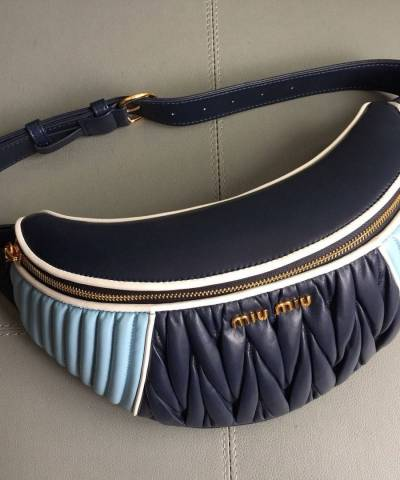 Сумка на пояс Miu Miu Rider Belt Bag Blue